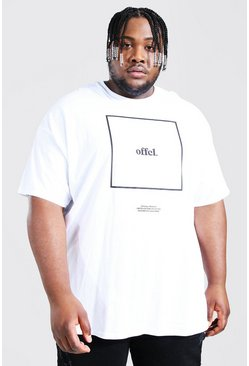White Plus Size Official Box Print T-shirt