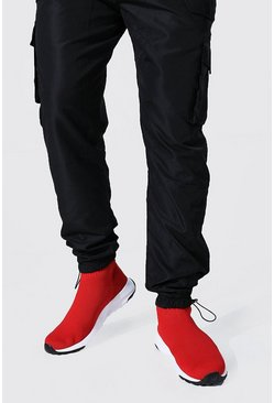 Baskets chaussettes - MAN, Red rouge