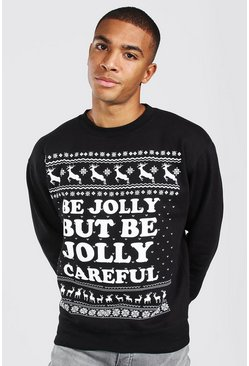 Black Losse Jolly Careful Sweater