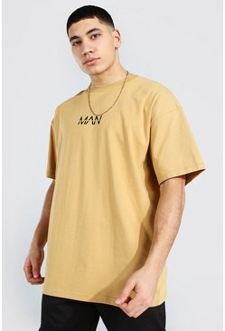 Sand beige Oversized Original Man T-shirt