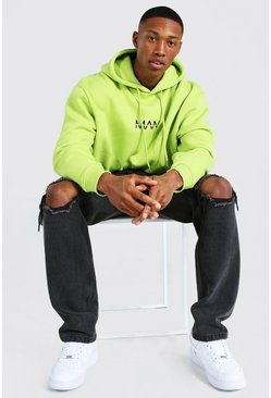 Acid lime yellow Oversized Original Man Oth Hoodie