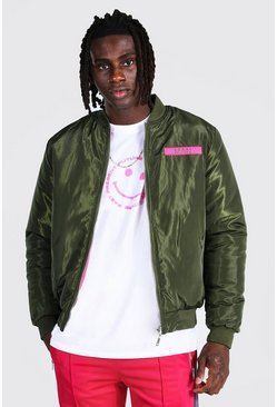 Official Man Reversible Ma1 Bomber Jacket , Multi multicolor