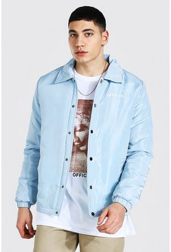 Light blue blue Man Official Nylon Coach Jacket