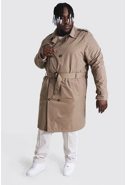 Camel beige Plus Size Mid Length Double Breasted Mac