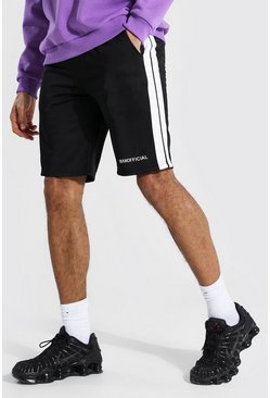 Black Tall Man Tricot Shorts Met Zijstreep