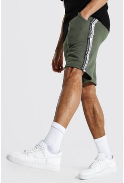 Khaki Tall Man Official Middellange Gestreepte Shorts