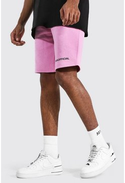 Pink Tall Middellange Man Official Jersey Shorts Met Taille Band Detail