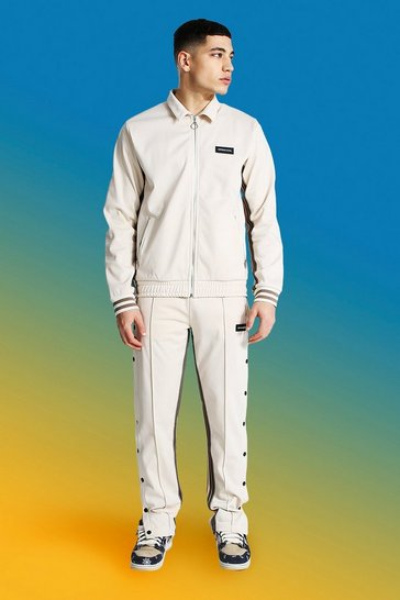 Ecru white Official Man Harrington Tricot Tracksuit