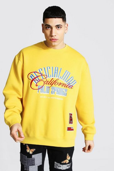 Mustard yellow Official Man Oversized Palm Springs Sweater