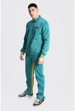 Green Official Man Harrington Tricot Tracksuit