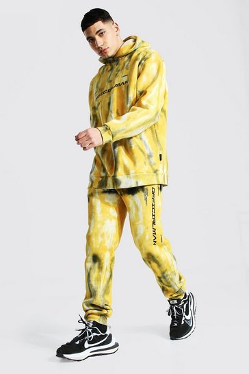 Yellow Official Man Tie Dye Tracksuit