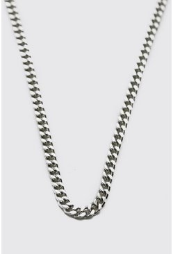 Thin Chain Necklace, Silver Серебряный