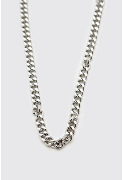 Silver Chunky Choker Chain With Lobster Clasp