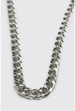 Silver Chunky Cuban Style Chain Necklace