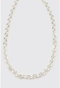 Silver Chunky Cable Chain With Toggle