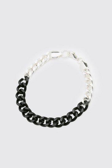 Multi Chunky Contrast Chain Bracelet