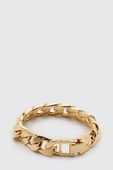 Gold metallic Chunky Chain Bracelet