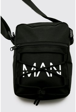 Black Man Branded Utility Lace Up Crossbody