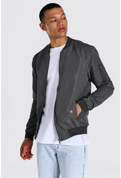 Tall Ma1 Bomber Jacket, Charcoal gris