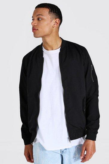 Black Tall Ma1 Bomber Jacket