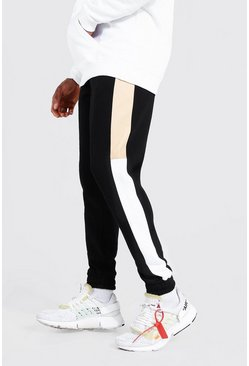 Sand beige Skinny Original Man Colour Block Joggers