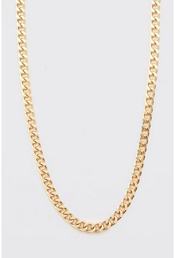 Gold metallic Chunky Chain Necklace With Toggle And Coin