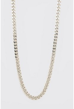 Silver Chunky Chain Necklace With Toggle