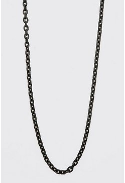 Black Thin Anchor Chain Necklace