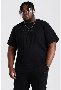 Black Plus Size Roman Man T-shirt Tracksuit