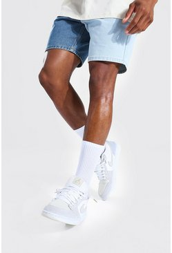 Ice blue Slim Rigid Contrast Denim Short