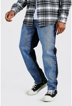 Ice blue Straight Leg Let Down Hem Zip Jean