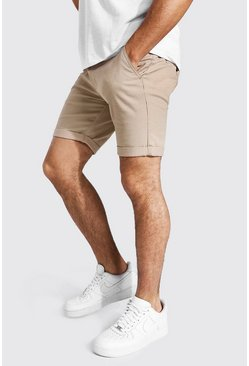 Super Skinny Chino Short, Stone beis