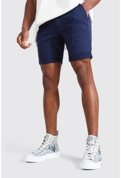 Navy Super Skinny Chino Short