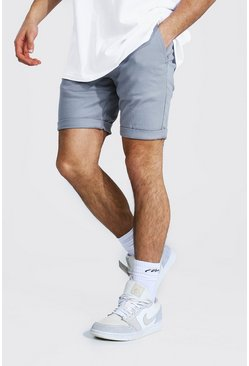 Super Skinny Chino Short, Grey grau