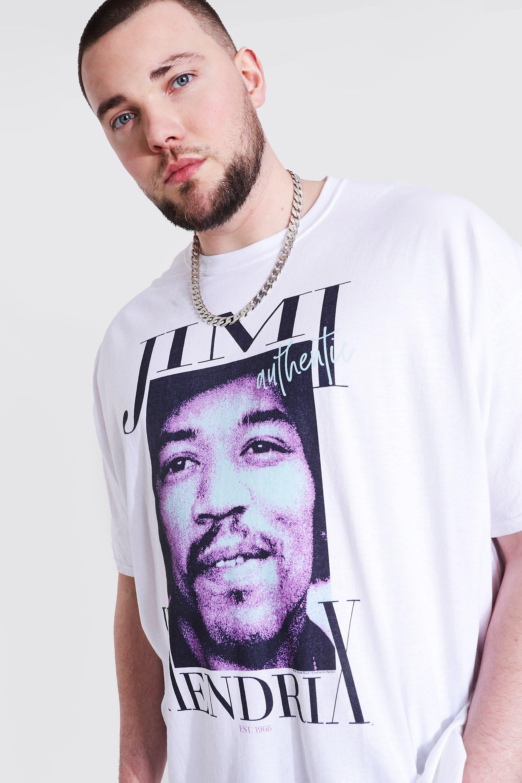 JIMI HENDRIX Big Print T SHIRT S-M-L-XL-2XL New Official Impact Merchandising