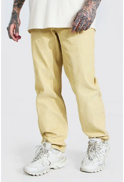 Ecru white Relaxed Fit Corduroy Pants