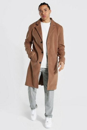 Camel beige Tall Summer Wool Overcoat