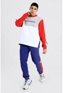 Red Man Official Colour Block Trainingspak Met Sweater