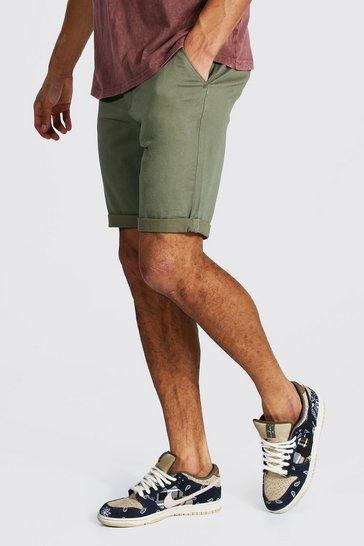 Khaki Tall Skinny Fit Chino Shorts