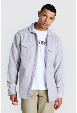 Light grey grey Tall Man Official Fleece Overshirt