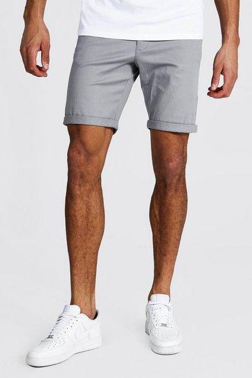Grey Tall Skinny Fit Chino Shorts