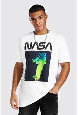 White Oversized Nasa Space Suit License T-shirt