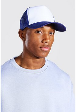 Blue Mesh Back Trucker Cap