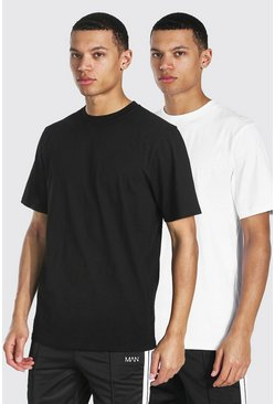 Multi Tall 2 Pack Basic Crew Neck T-shirt