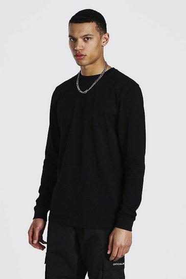 Black Tall Basic Long Sleeve Crew Neck T-shirt