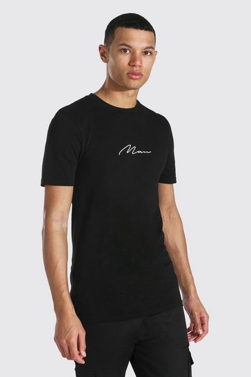 Black Tall Man Signature Muscle Fit T-shirt