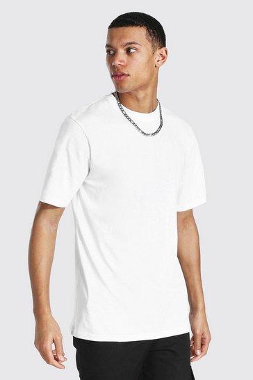 White Tall Basic Short Sleeve Crew Neck T-shirt
