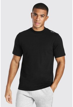 Black Original Man Extended Neck Heavyweight Tshirt