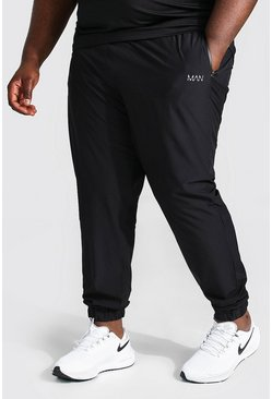 Black Plus Size Toelopende Man Active Joggingbroek