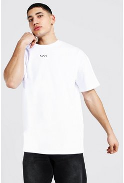 White Oversized Original Man Heavyweight T-shirt